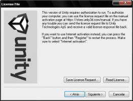 Activar licencia Unity3D