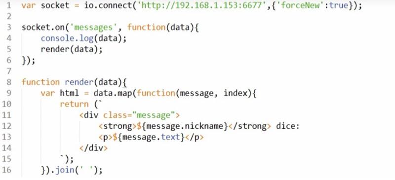aplicación web de Chat con NodeJS y SocketIO